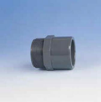 "Übergangs - Muffennippel PVC PN16 d - G = 20/25 - 1/2"" AG"