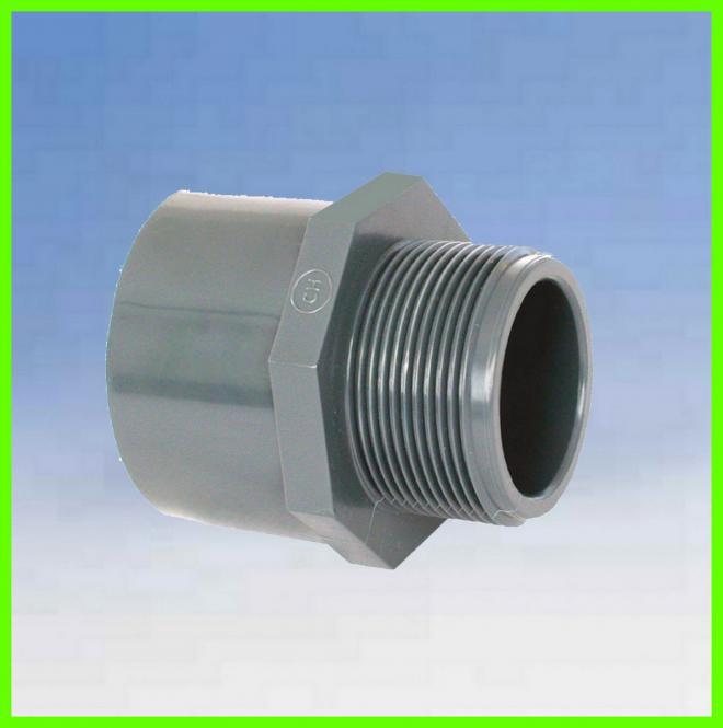 "Übergangs - Muffennippel PVC PN10 d - G = 32/40 - 1"" AG"