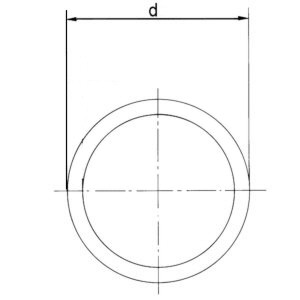 1 m PVC Rohr Druckrohr 32 mm